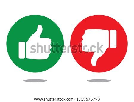 Like and Dislike Icons, Symbols, Vector Design Foto d'archivio ©