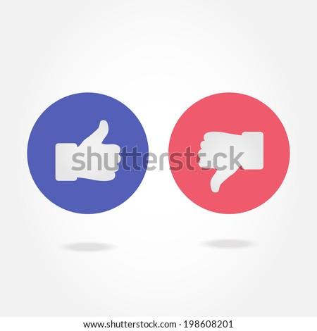 Like and dislike symbol.