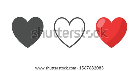 Like and Heart icon. Valentine's day love hearts.