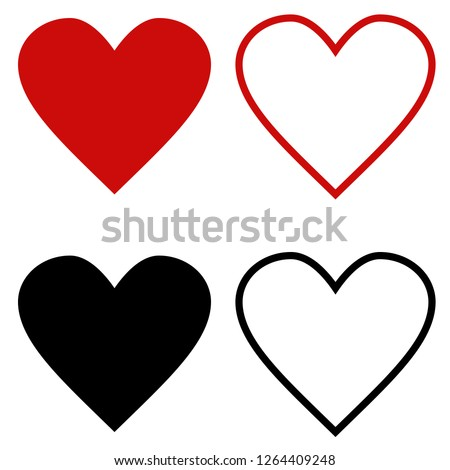 Like and heart symbol icon. Live webcast webinar, chat. Vector social network, red graceful heart web button