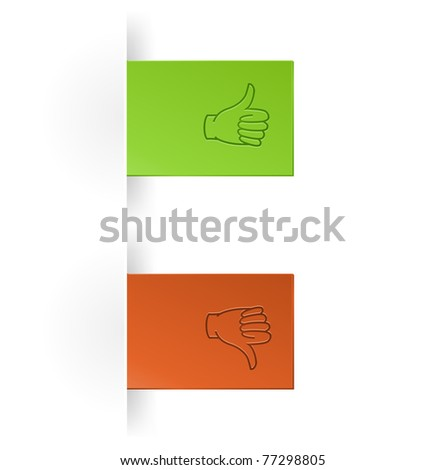 like and unlike icon as tump up and down hand icon