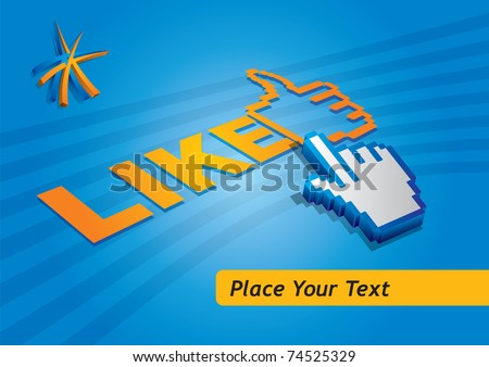 Like button, abstract communication concept