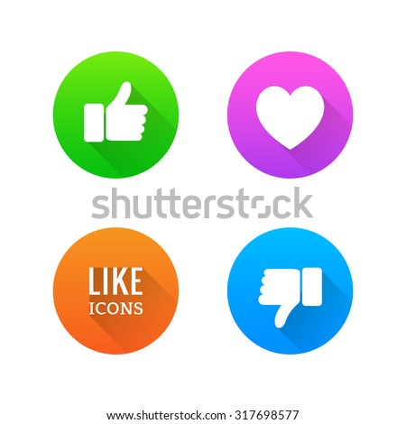 like  dislike  heart icons with