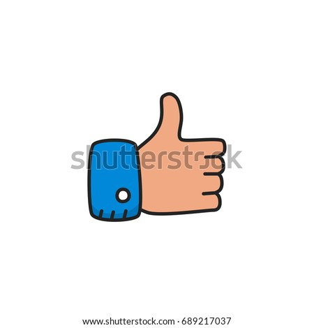 like doodle icon vector isolated