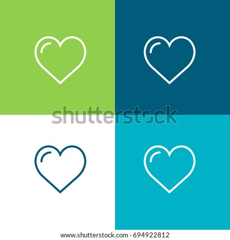 Like green and blue material color minimal icon or logo design
