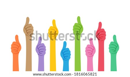 like hand sign, hand thumbs, show hand thumb symbol, thumb up for ok, approve, confirm, yes, best and meeting concept, simple hand thumb colorful, copy space