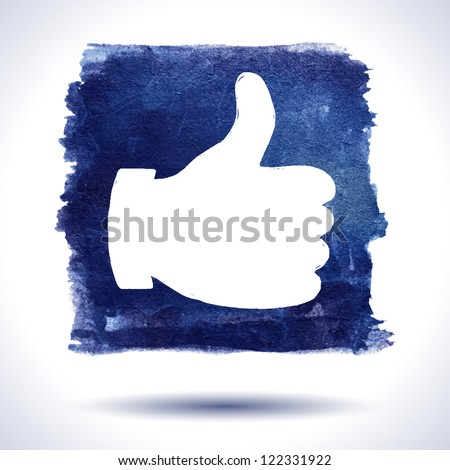 Like hand. Social media. Grunge background. Watercolor background. Retro background. Vintage background. Business background. Hand drawn