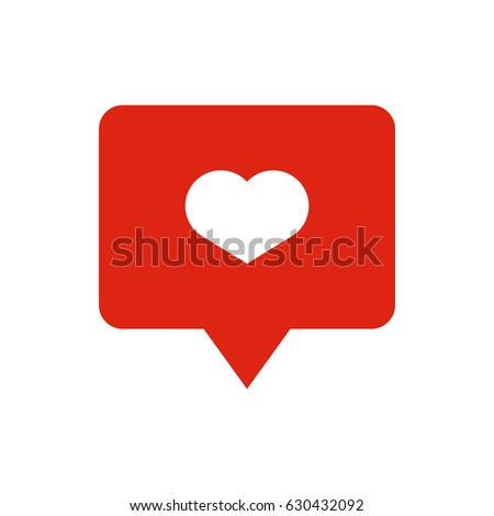 like heart icon on a red pin