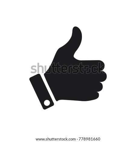 like icon, hand vector icon, good symbol, flat design best vector like illustration