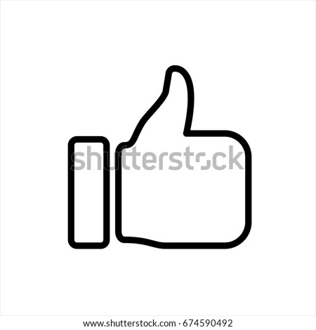 like icon in trendy flat style isolated on background. like icon page symbol for your web site design like icon logo, app, UI. like icon Vector illustration, EPS10.