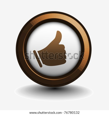 like icon isolated on white background.