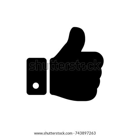 like icon, like icon vector, in trendy flat style isolated on white background. like icon image, like icon illustration