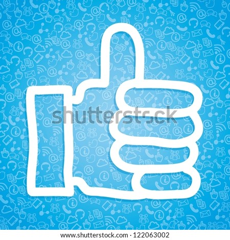 like icon over blue background. vector illustration