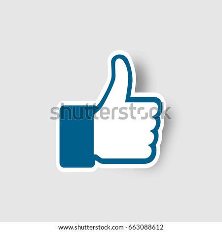 Like icon, Thumb up vector illustration