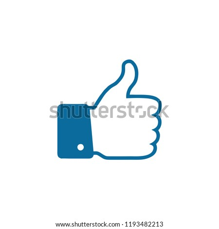 Like icon. Thumbs up icon vector