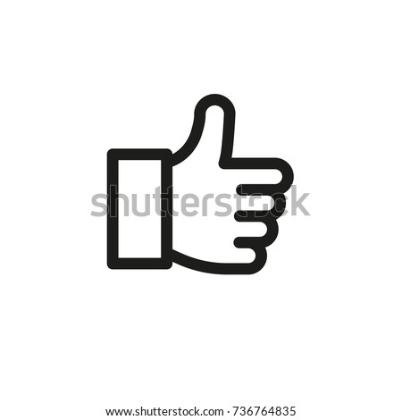 like icon thumbs up web icon vector thin line finger up good luck excellent mark like logo cool well done approval appreciation infographic elements business icon chat talk conversation friends
