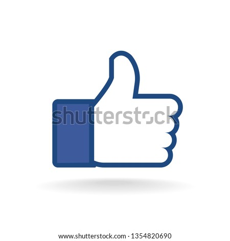 Like icons, Thumbs up Vector illustration