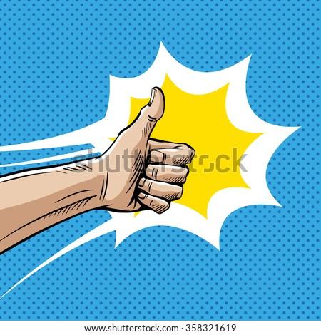 like sign gesture thumb