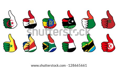 like symbol with flag of africa countries