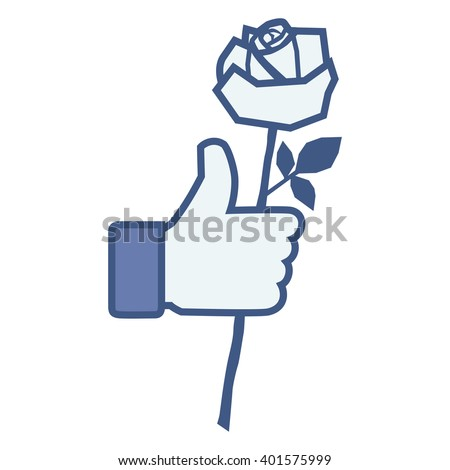 like thumbs up hand hold rose