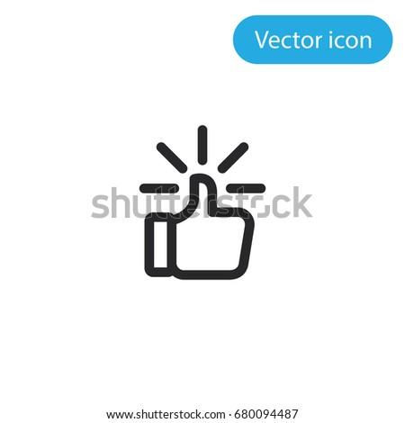 Like vector icon, illustration symbol