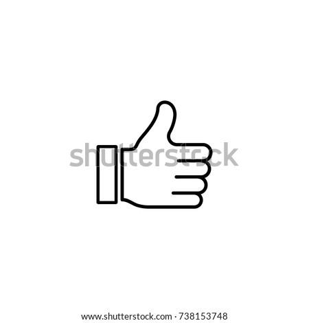 Like vector icon line symbol
