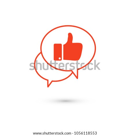 Like vector icon. Thumbs up. Hand icon. Social Concept