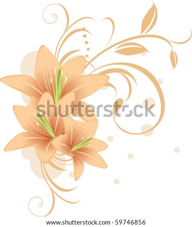 lilies with decorative ornament