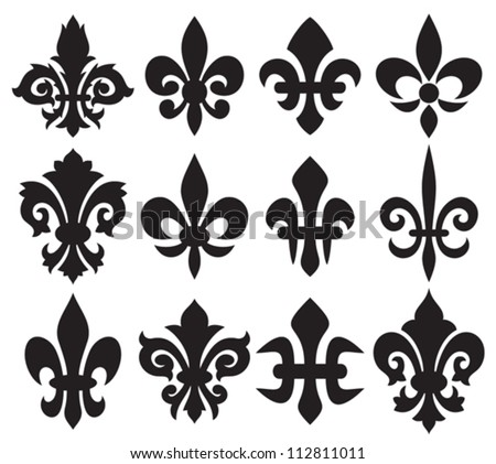 Lily Flower Heraldic Symbol Fleur De Lis Royal French Lily