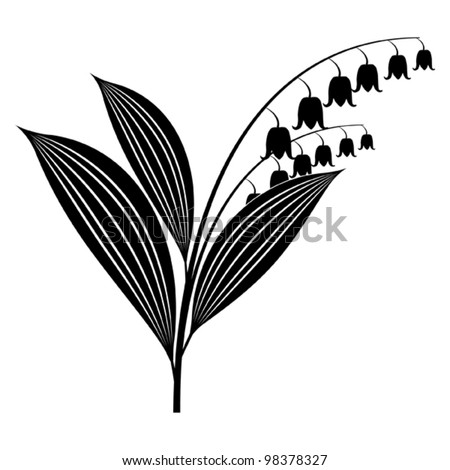 Lily of the valley - stock vector
