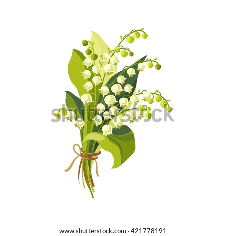lily of the valley hand drawn