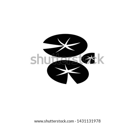 lily pads vector isolated flat