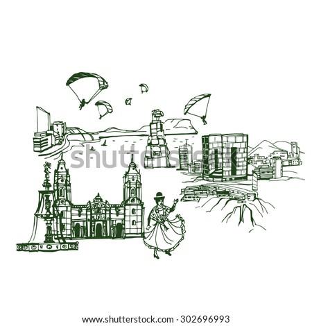 lima peru skyline  places and
