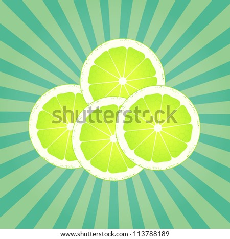 Lime abstract background vector with burst