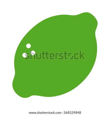 lime citrus fruit flat color