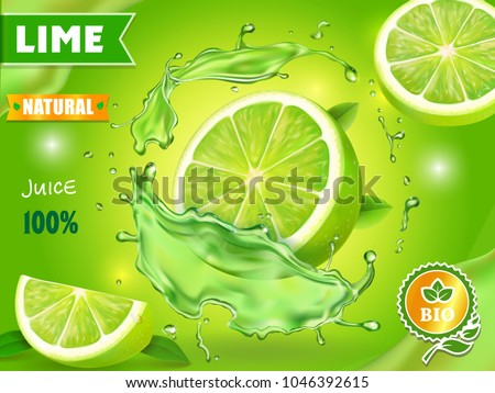 lime juice poster advertising