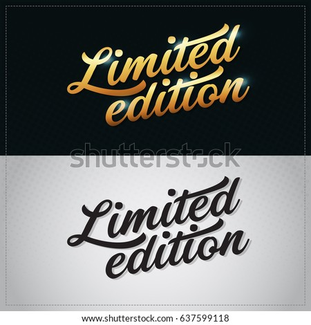 Limited edition vector gold premium hand lettering illustration