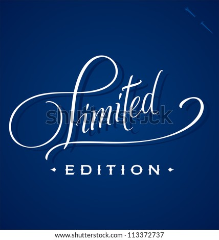LIMITED hand lettering - handmade calligraphy, vector (eps8)