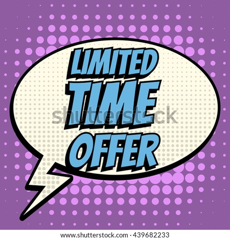 limited time offer comic book