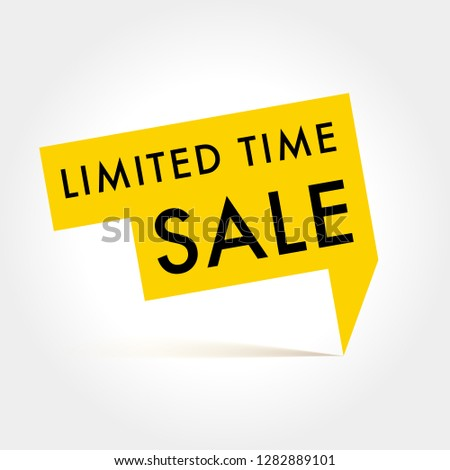 Limited Time Sale Vector label