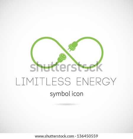 Limitless energy vector symbol icon or logo