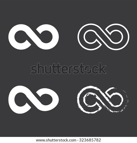 Limitless sign icon. Infinity symbol set . Vector illustration #323685782