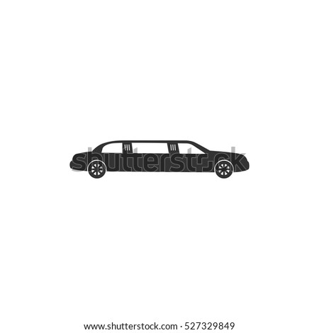 Limousine icon flat. Illustration isolated vector sign symbol