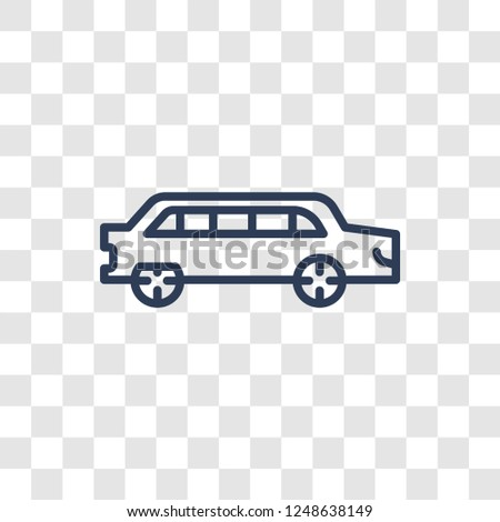 Limousine icon. Trendy linear Limousine logo concept on transparent background from Transportation collection