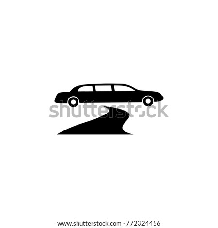 limousine parked near red carpet icon. Night club icon. Element of place of entertainment icon. Premium quality graphic design. Signs, outline symbols collection icon for websites on white backround