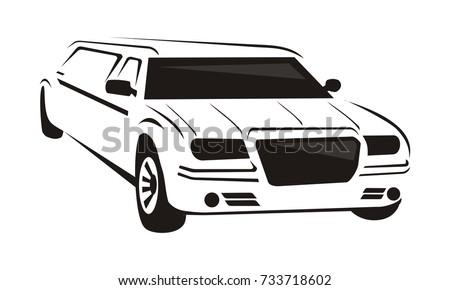 limousine vector