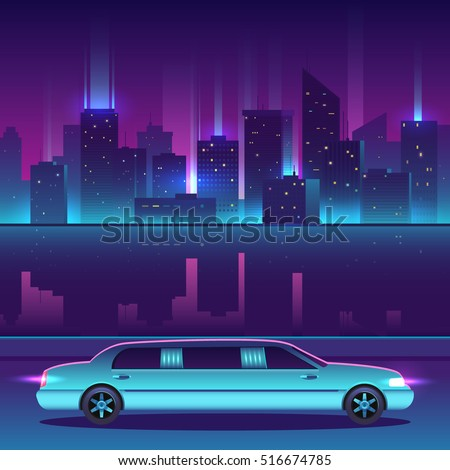 limousine vector in front of