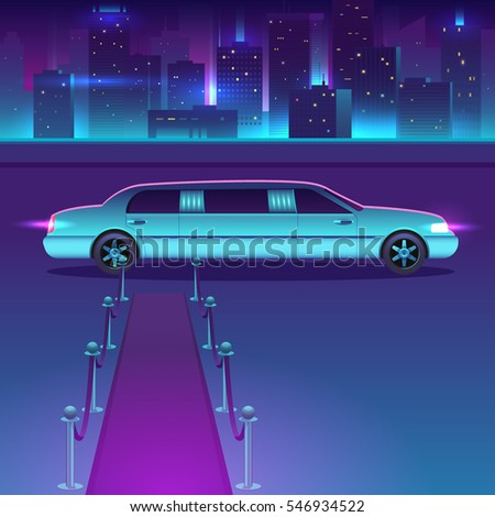 limousine with a red carpet at