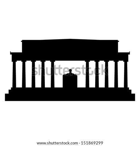 lincoln memorial silhouette