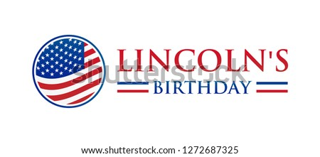Lincoln's Birthday Isolated Icon